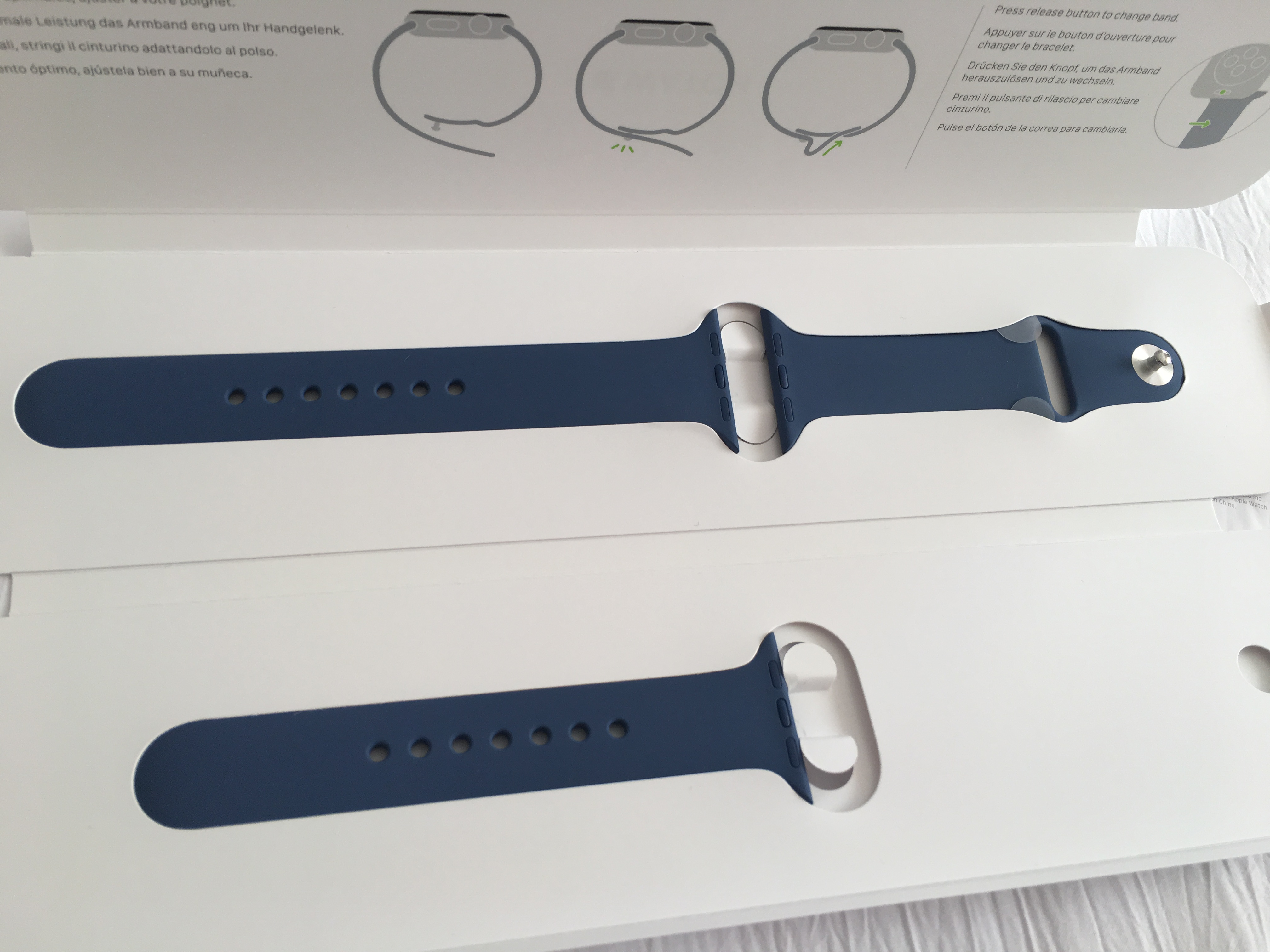 7bda59fe0 Just purchased the above sport bands today in store. Great colours but the  Ocean Blue has quite a purple tint to it in the sunlight. Is Concrete the  same as ...