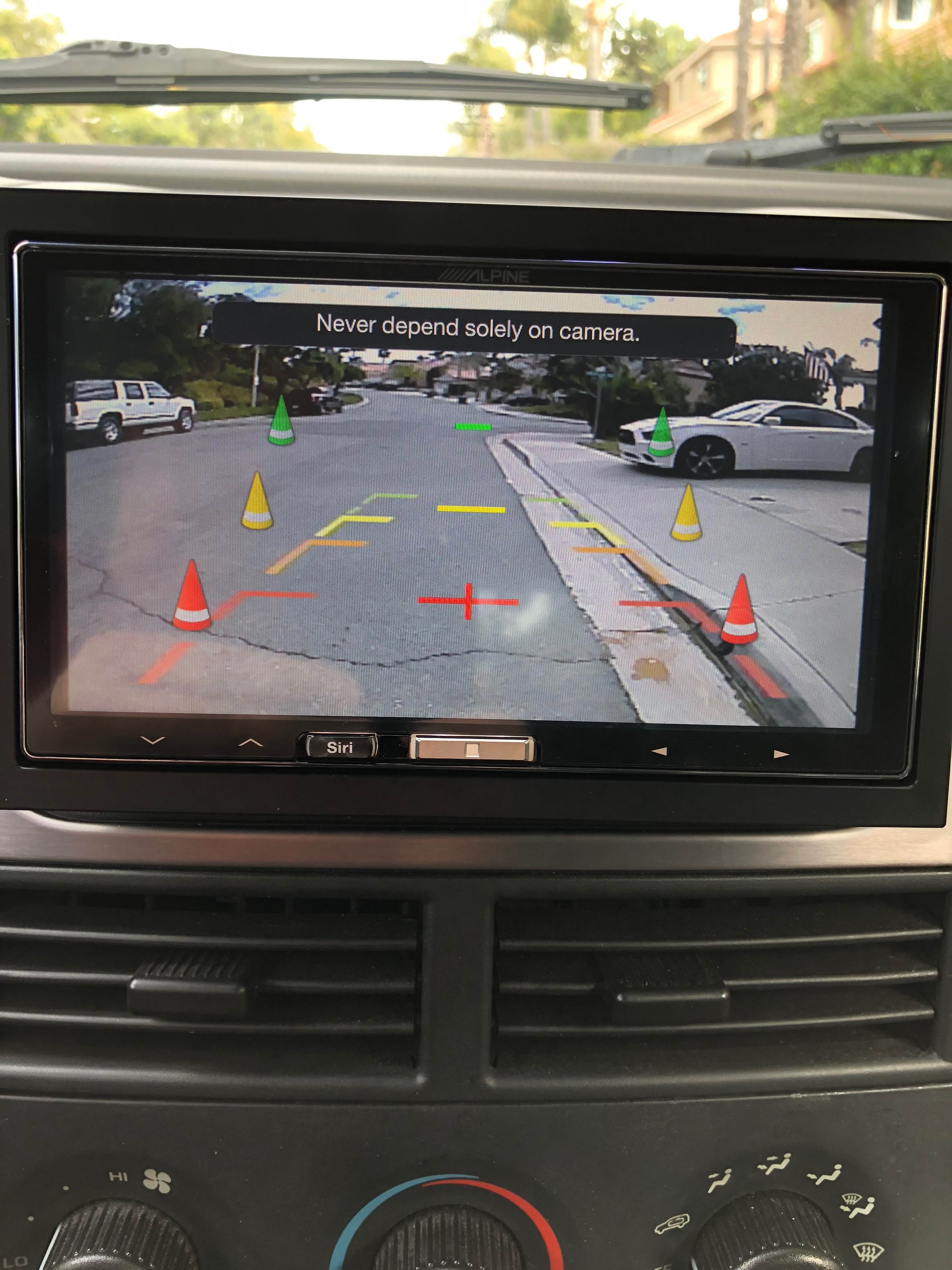 Carplay Wireless Aftermarket Head Unit Page 2 Cigarette Lighter Wiring Plug Jeep Cherokee Forum The Radio So Only Think You Can Do Is Switch To Another Input Like Itunes Stop Camera Was Located In Top Middle Of