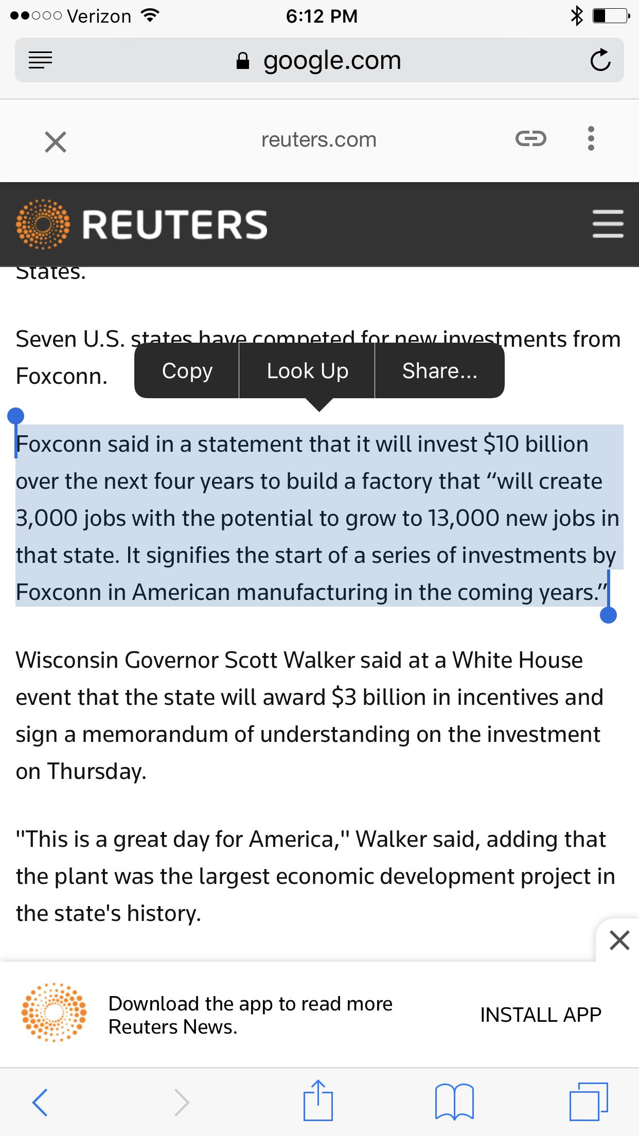 Http://www.reuters.com/article/apple Foxconn Wisconsin IdUSL1N1KH10M