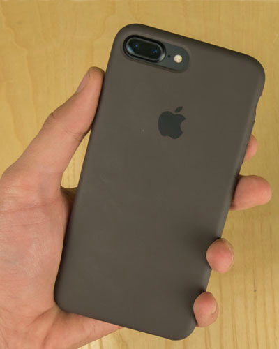custodia iphone 7 silicone apple cacao