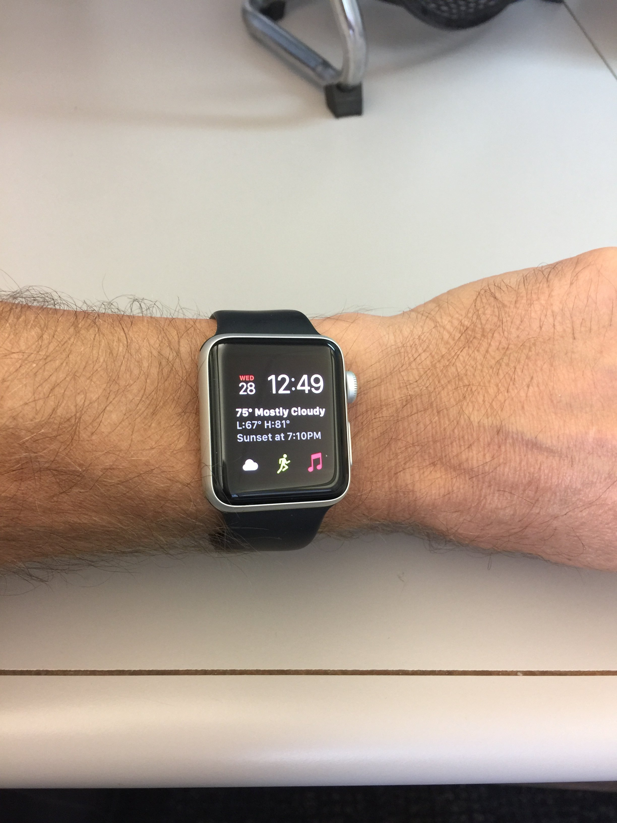 Any Men Wearing A Silver Aluminum Apple Watch Macrumors Forums Series 2 38mm Black I Have The But Swapped White Band For