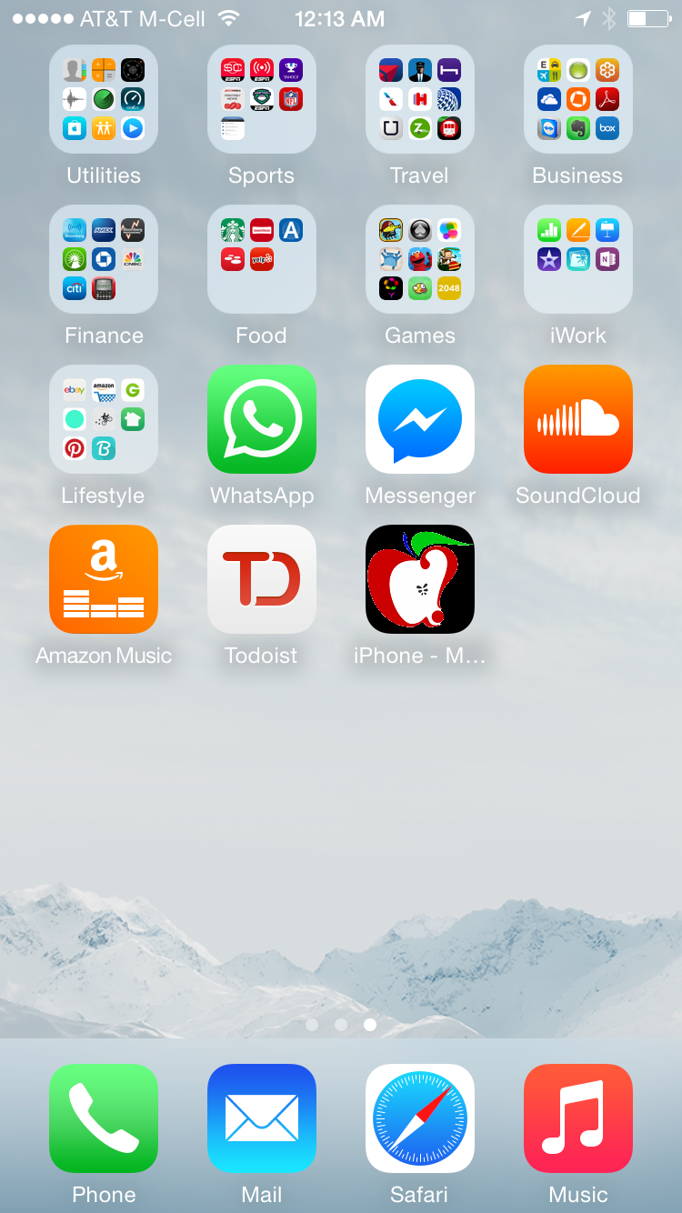 Take pictures of home screen iphone.