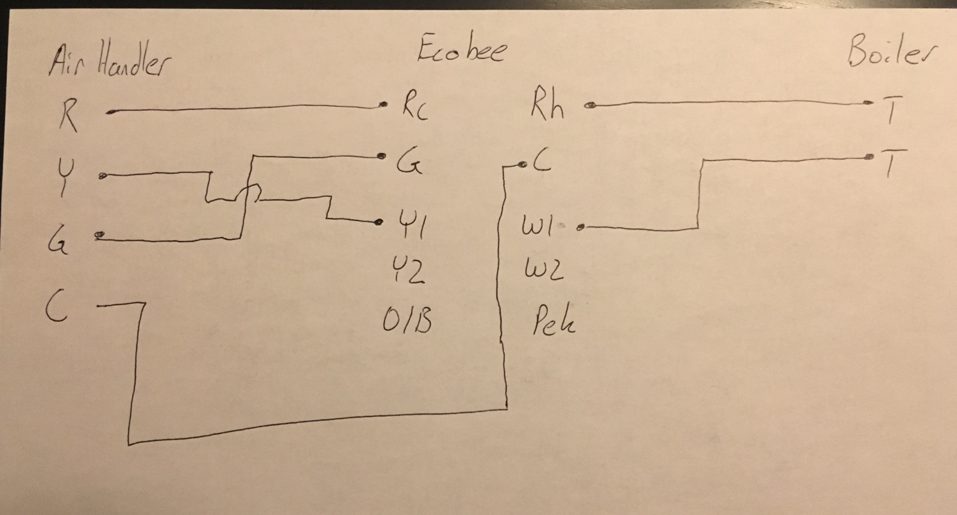 Ecobee 3 With Carlin And Buderus Boiler Macrumors Forums Aquastat Wiring Diagram Old That Y Wire Is Jumping Over The G Not Connected Together