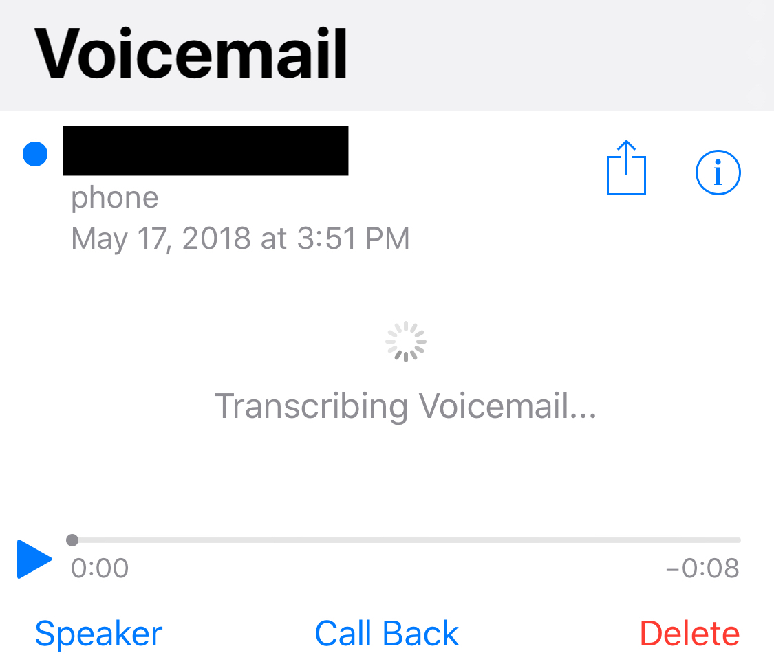 Turn OFF transcribed voice mail messages | MacRumors Forums
