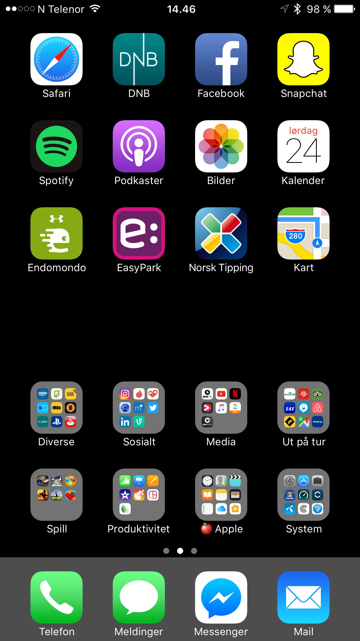 Regular Iphone Home Screen