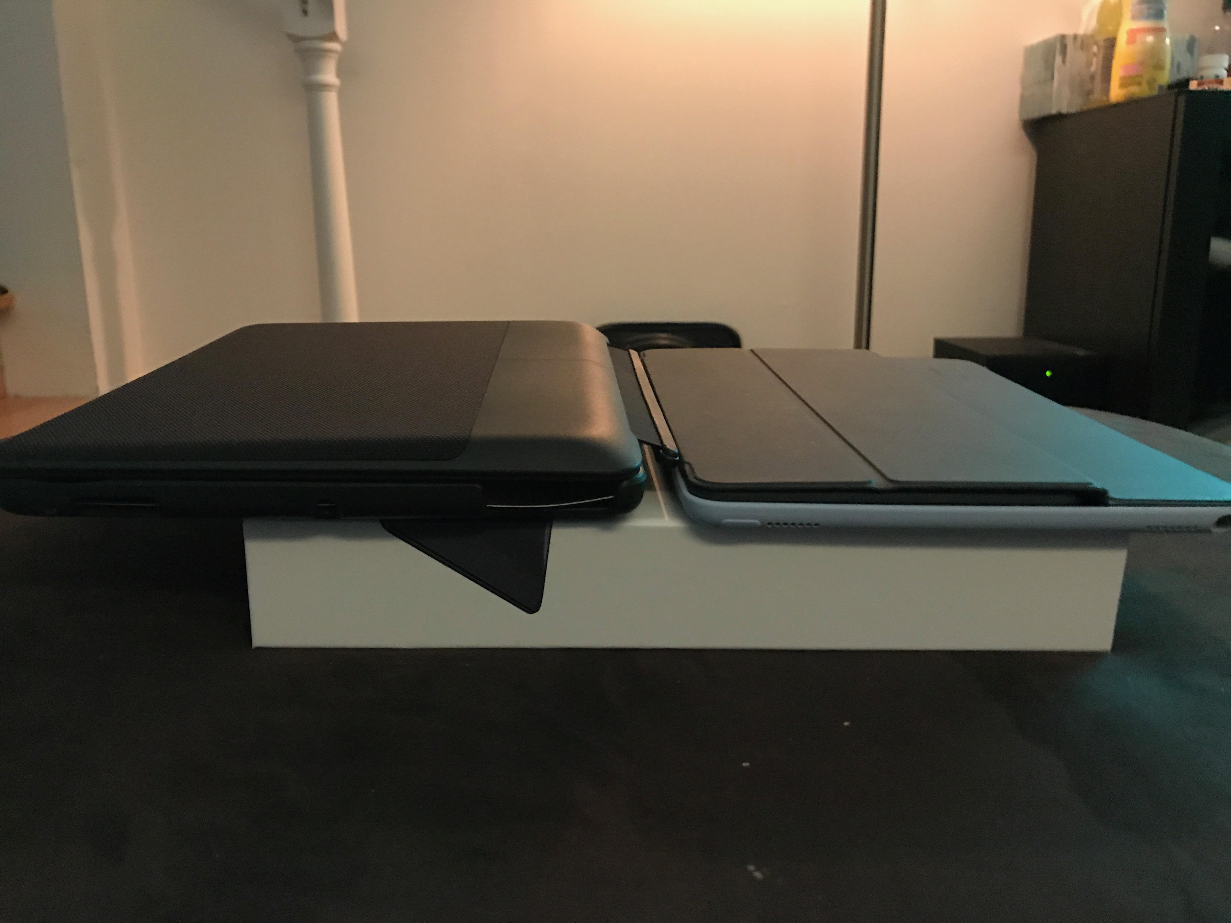 4bd62611ed3 Mine just came in. Photo comparison to my current 9.7 with Apple silicone  case and Smart Keyboard below.