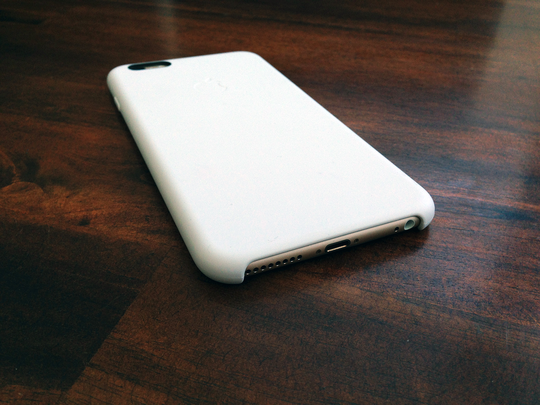 Apple white silicone case iphone 6