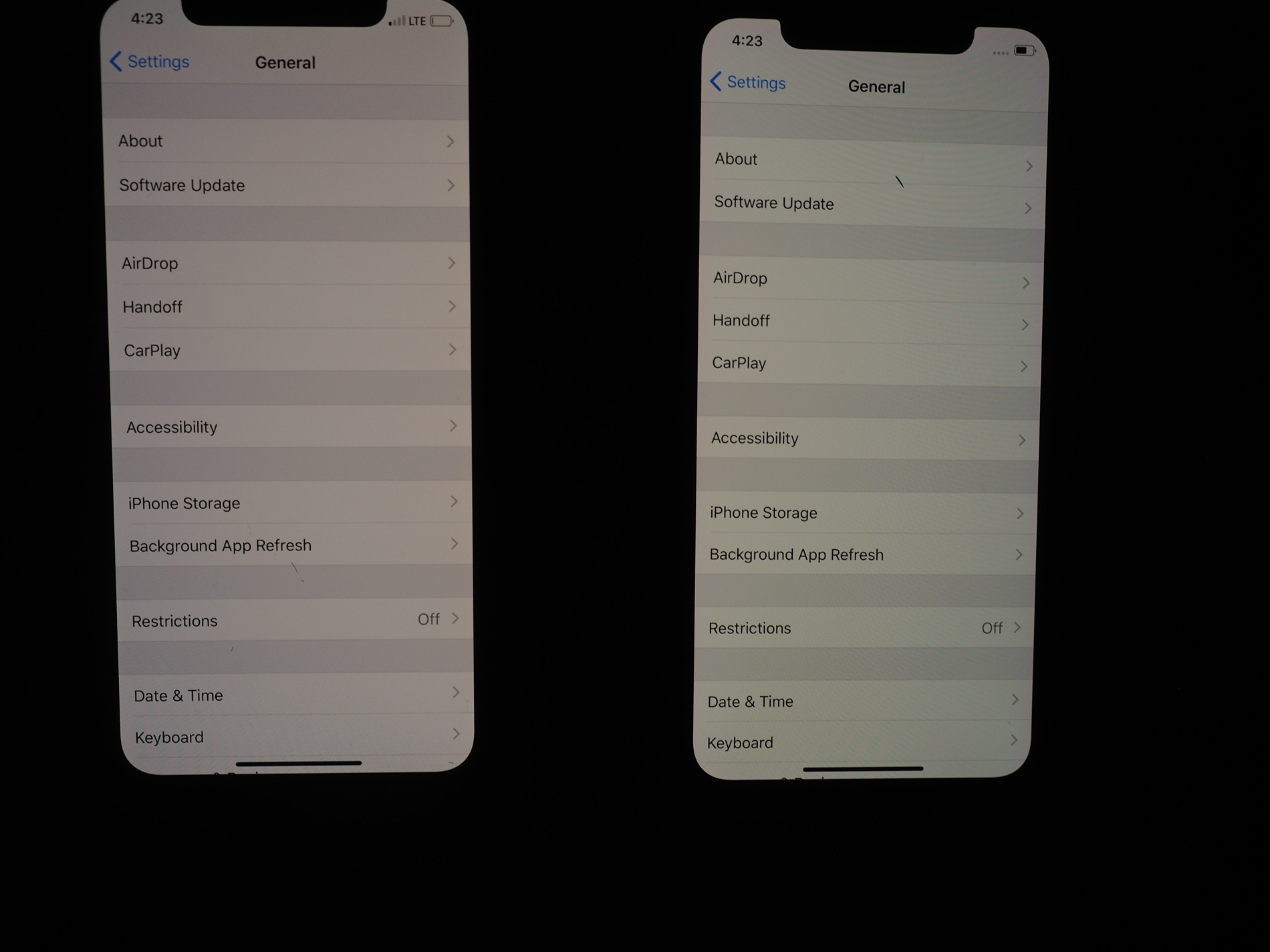 the latest 11d3e 03495 iPhone X - Combined | iPhone X Yellow / Blue shifted Display? | Page ...