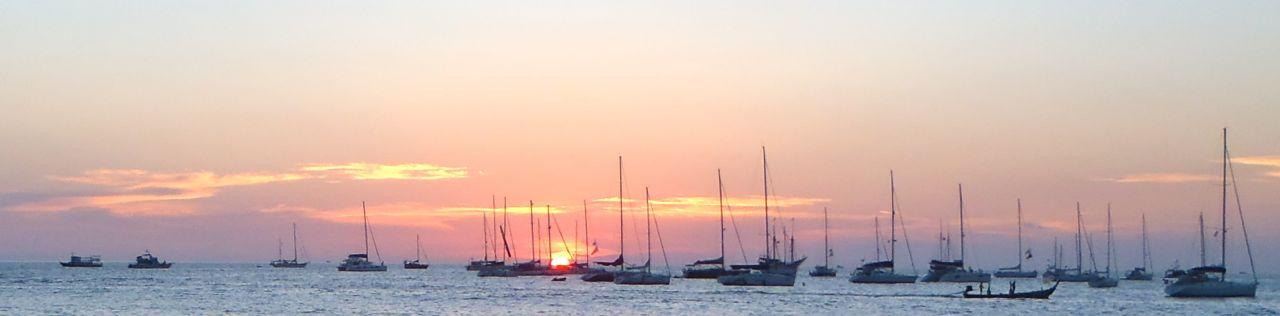 Kings Cup yachts at sunset; Kata 5 Dec '12.jpg
