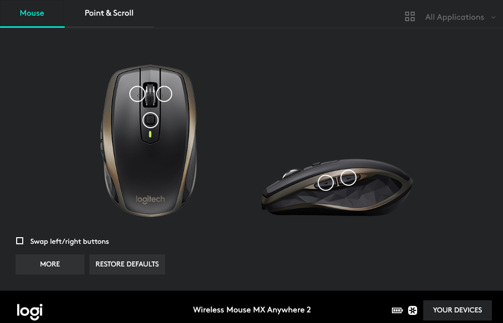 MX Anywhere 2 - How to check mouse battery   MacRumors Forums