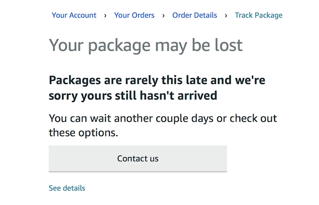 Amazon policies - package lost by carrier | MacRumors Forums