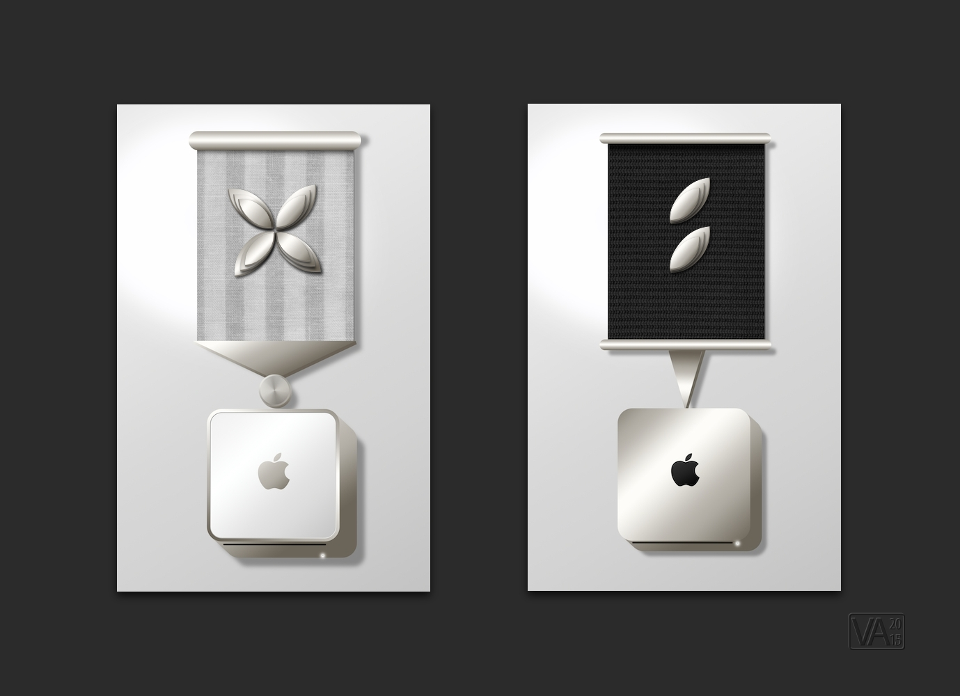 Mac Mini HDD Replacement Medals w Apple Leaf Clusters w.jpg