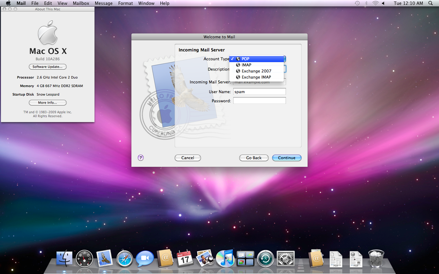 Mac os x guest snow leopard 10. 6. 4 on pc with virtualbox 3. 2. 6.