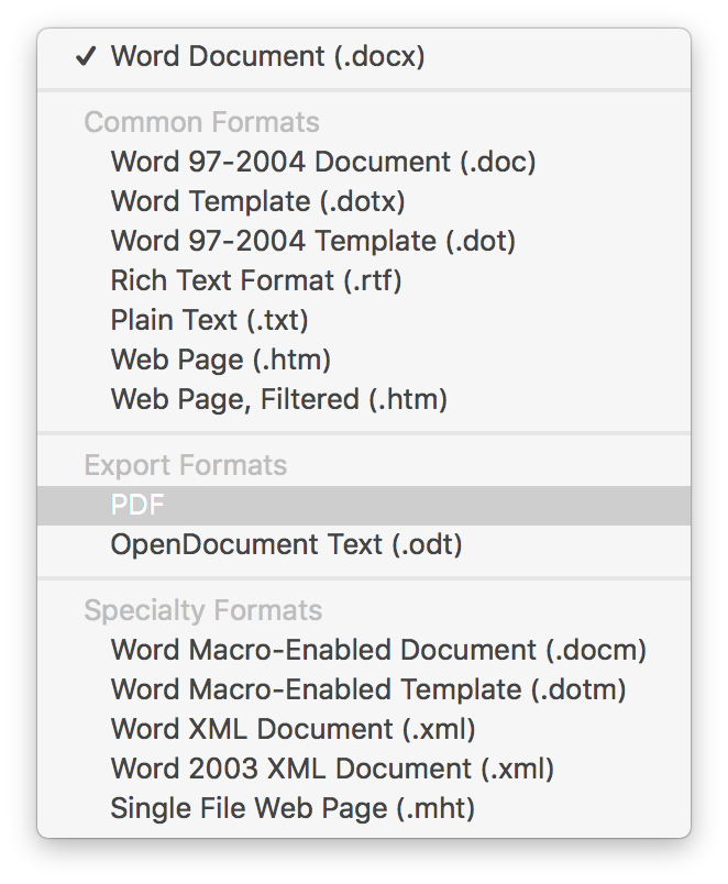 Convert Word to PDF loses formatting | MacRumors Forums