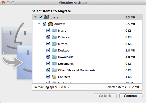 Migration Assistant: what to do when old Mac's drive is