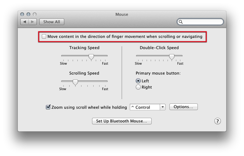 How to fix logitech mouse from scrolling in reverse