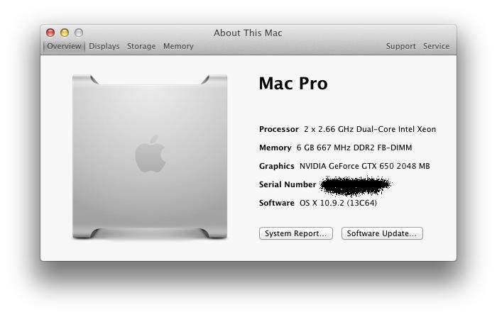 nvidia geforce 7300 gt mac pro driver