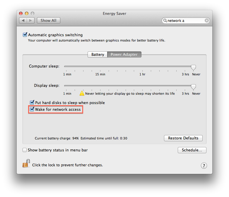 Wifi disables when screen sleeps | MacRumors Forums