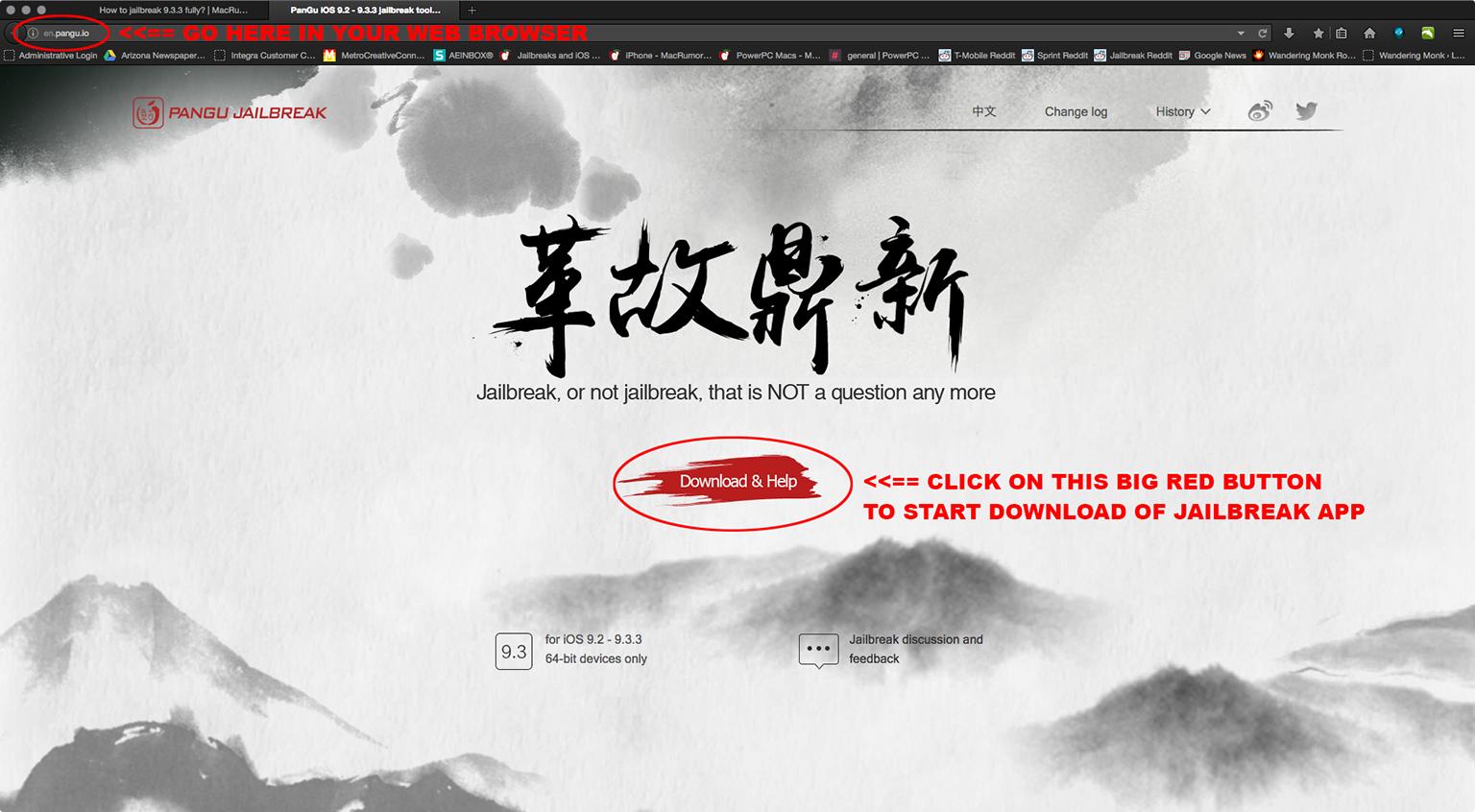 PanGu iOS 9.2 - 9.3.3 jailbreak tool - pangu.io.png