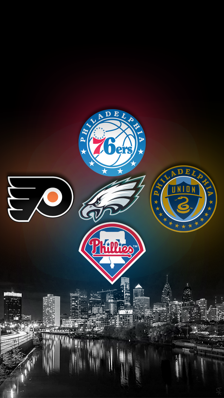 Philadelphia 76ers Eagles Phillies Flyers Union