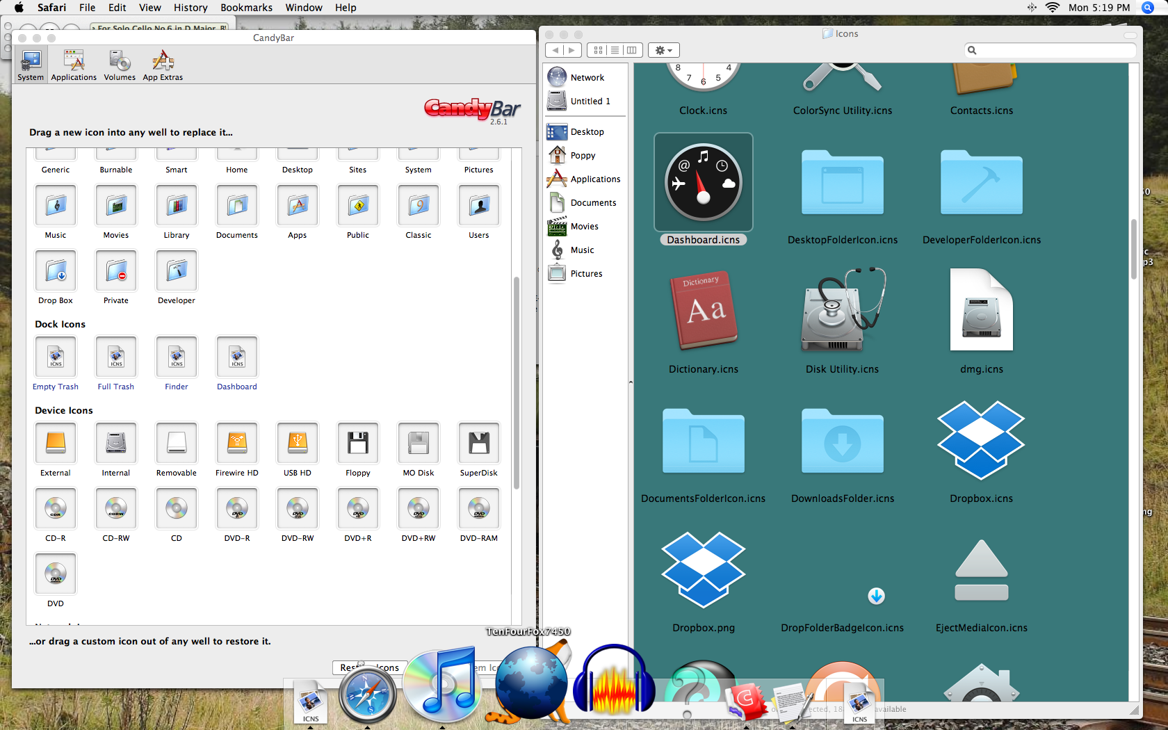 How to organize dock for mac