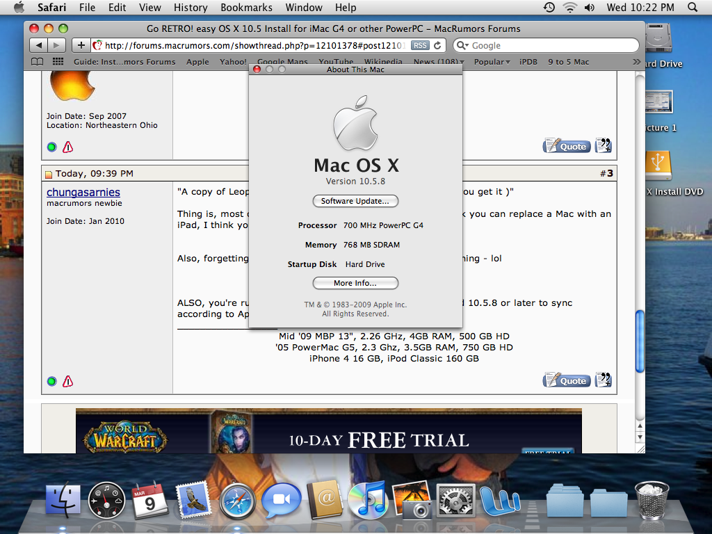 Mac os x 10. 5. 8 now available download here.