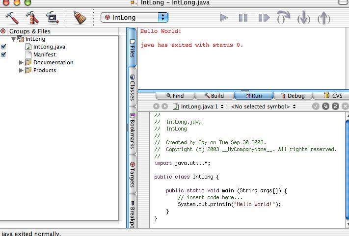 Basic Java Stuff In Project Builder Macrumors Forums