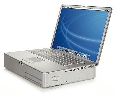 mock-up van niet-bestaande PowerBook G5