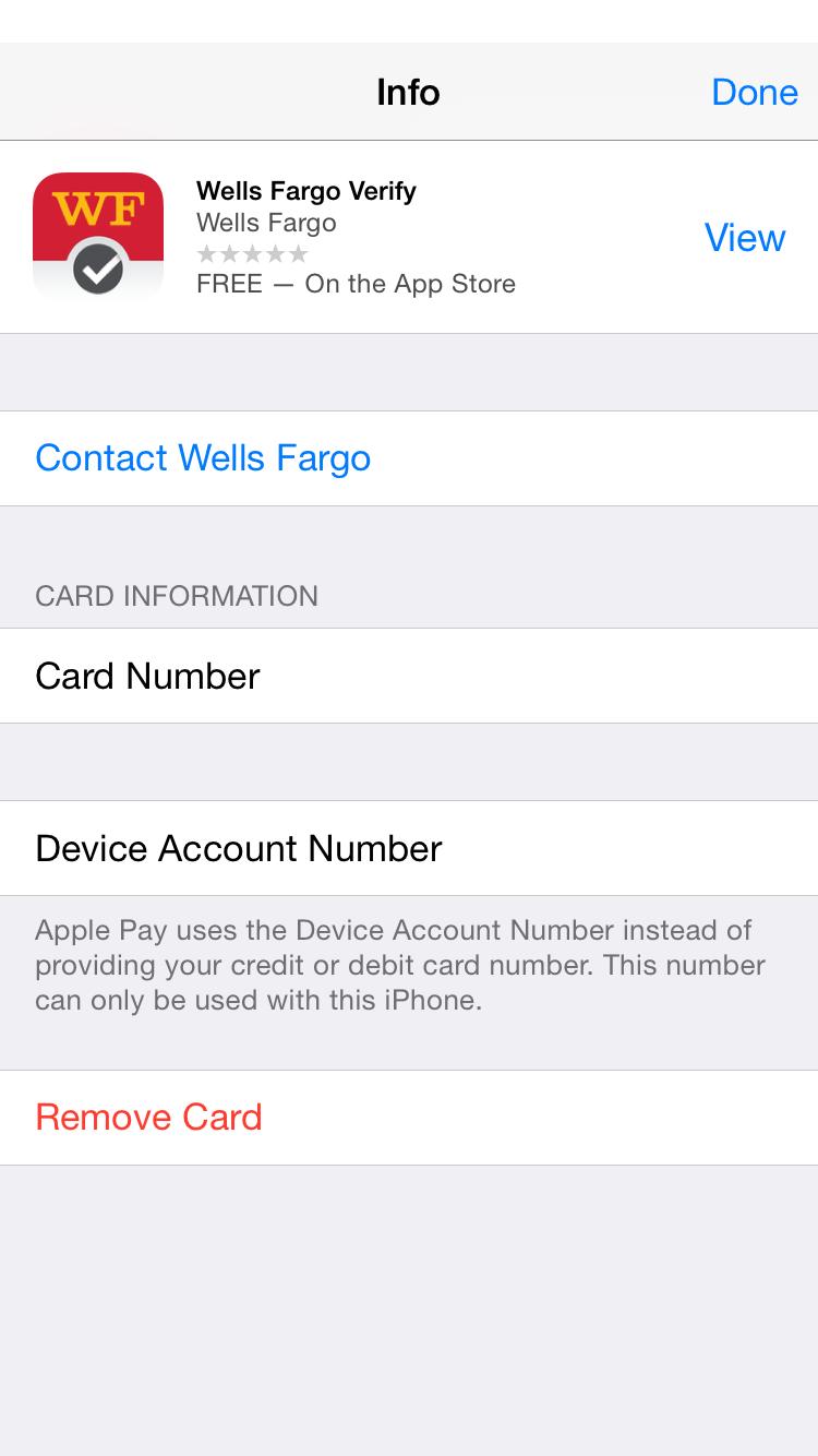 Apple Pay Wells Fargo Verification | MacRumors Forums