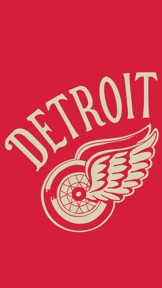 Detroit Red Wings Iphone 5 Background Round Designs