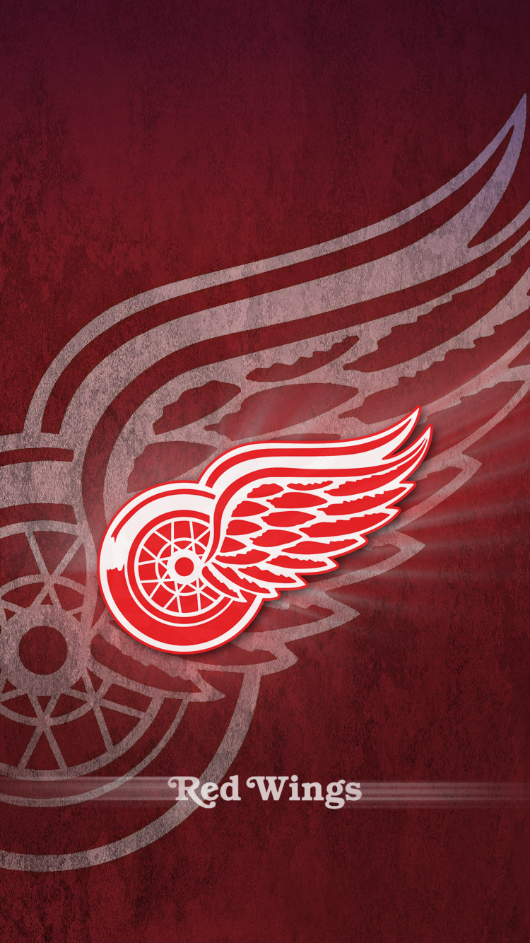 Detroit Red Wings Iphone Background Round Designs