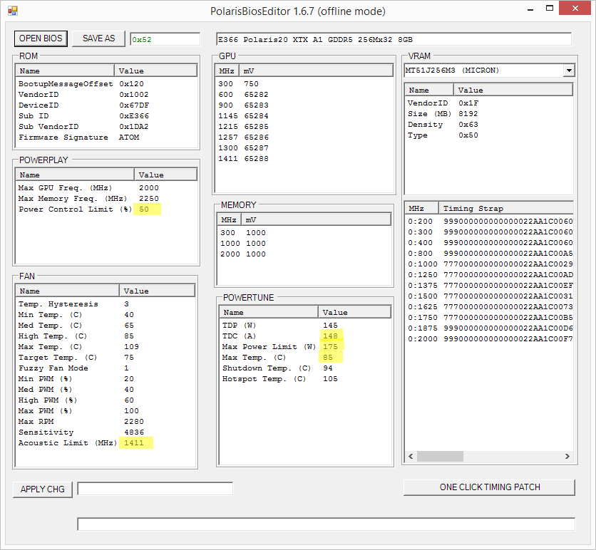 Sapphire PULSE RX580 8GB VBIOS Study | Page 4 | MacRumors Forums
