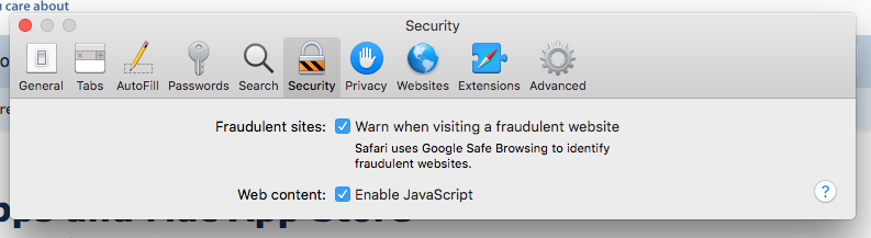 Safari 12 0 missing pop-up control? | MacRumors Forums
