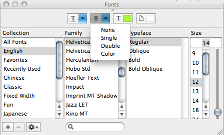 Shortcut for strikethrough in TextEdit? | MacRumors Forums