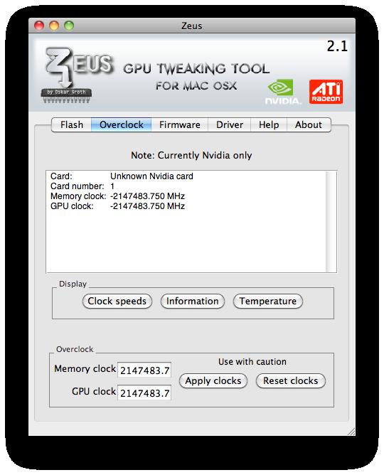 gpu overclocking software mac