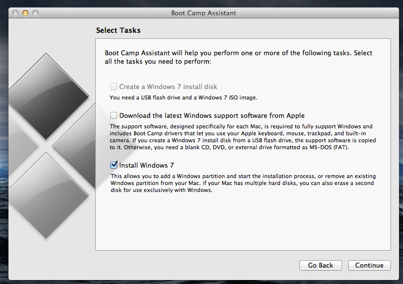 how to reset boot camp assistant
