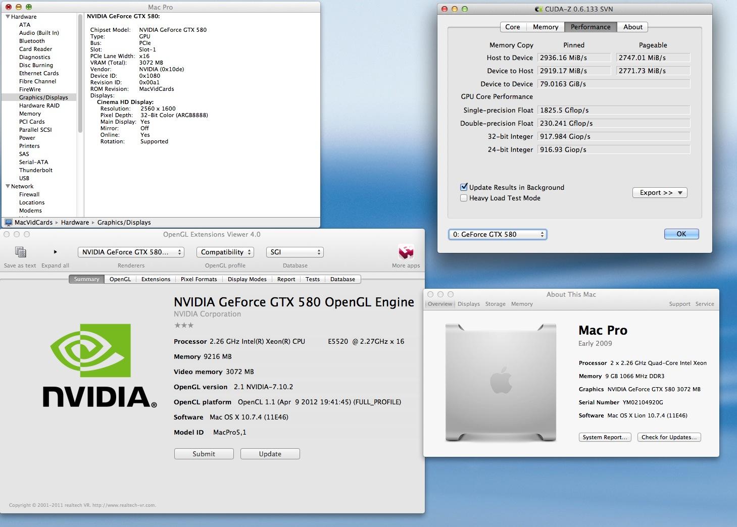 Fastest Mac GPUs with full EFI boot screens, etc, GTX570