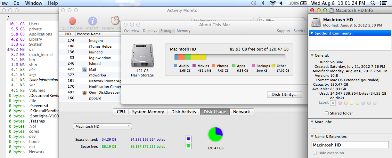 My hard disk space keeps depleting before my eyes