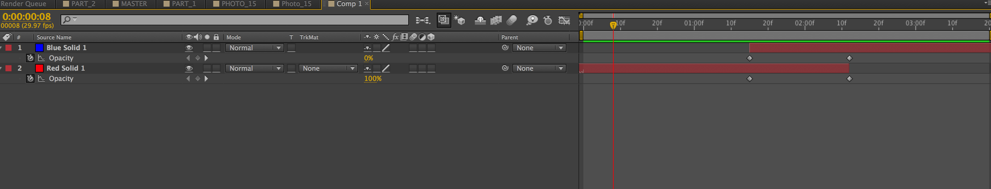 How can I do Cross Dissolves/Fade in After Effects CS6