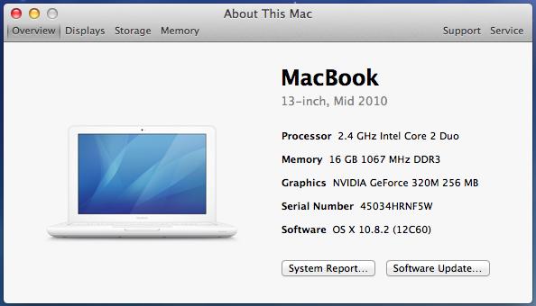 16GB of RAM in a Mid 2010 MacBook  | MacRumors Forums