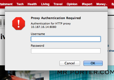 Proxy Authentication and Mountain Lion | MacRumors Forums