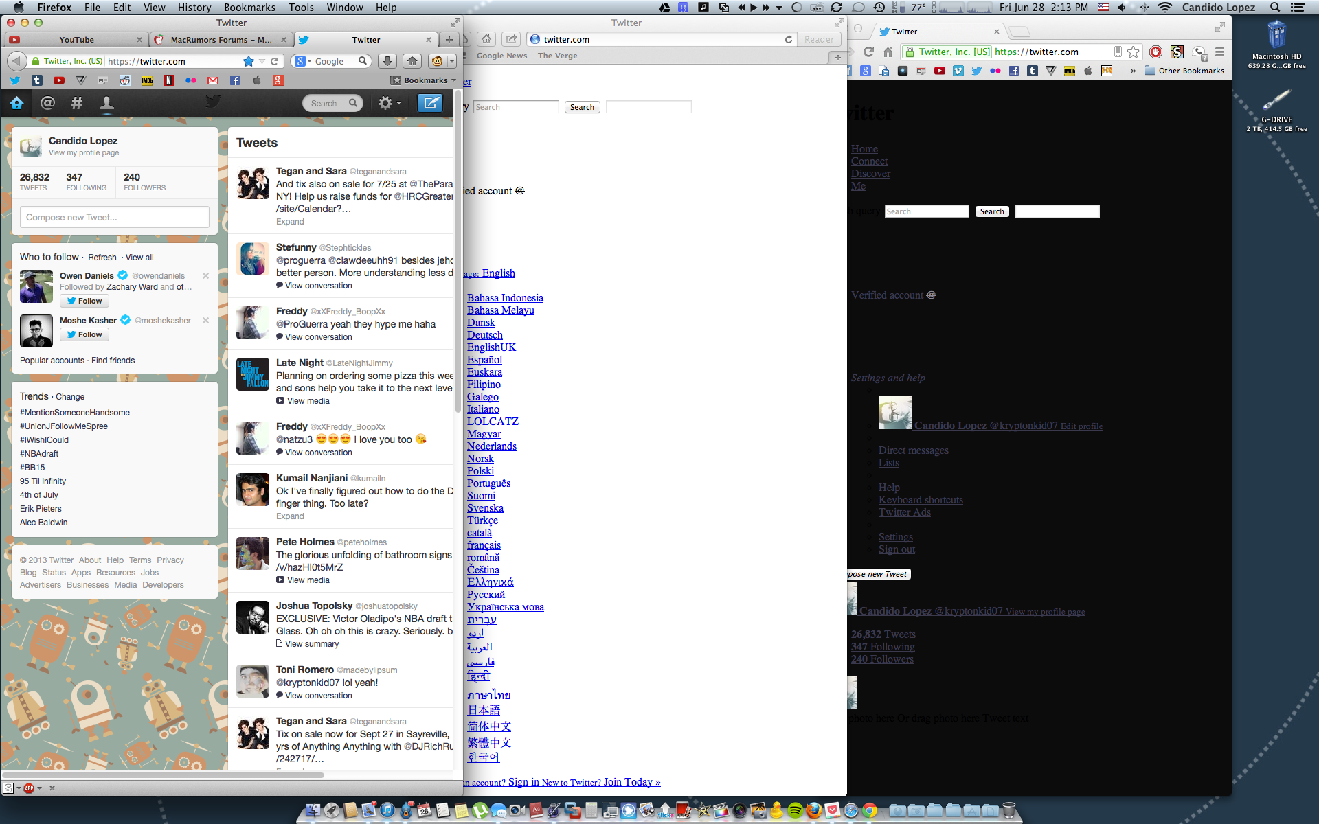 On my Mac, why do websites display differently with FireFox than Safari.