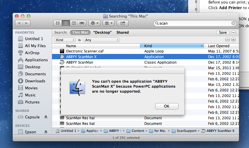 PowerPC applications are no longer supported