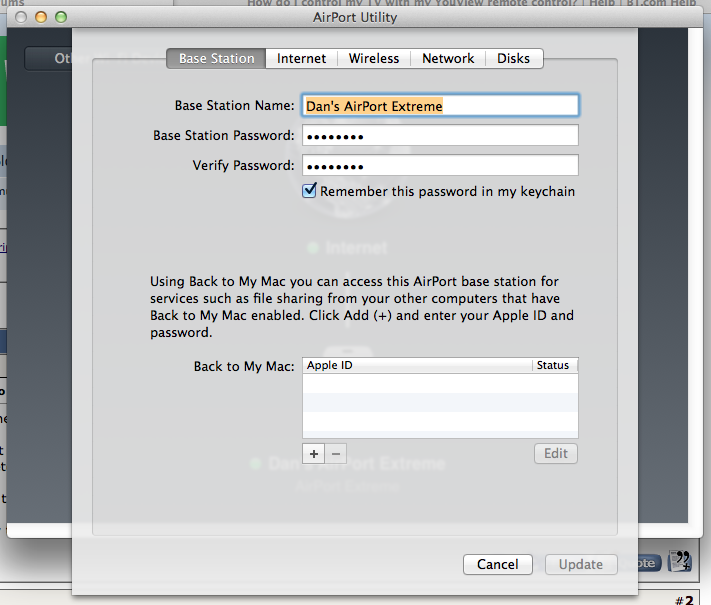 Remote Access to Airport Utility | MacRumors Forums
