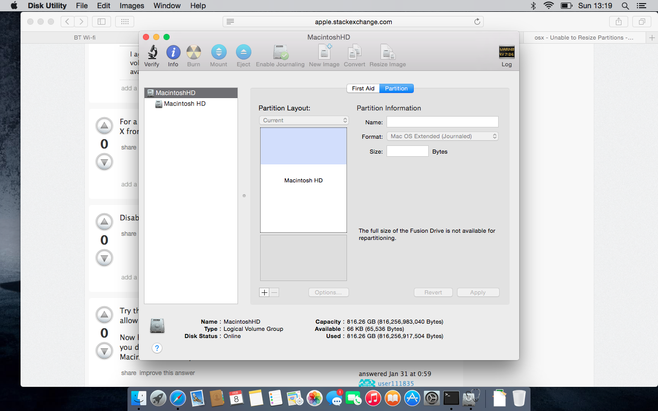 Greyed out Disk Utility Cannot Resize or add | MacRumors Forums