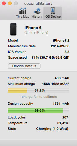 iphone 6s battery capacity