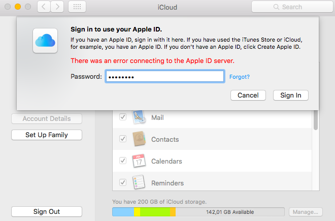 Error connecting to the Apple ID server | MacRumors Forums