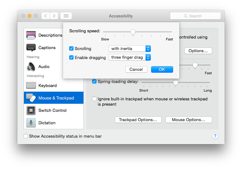 cant drag and drop files on mac