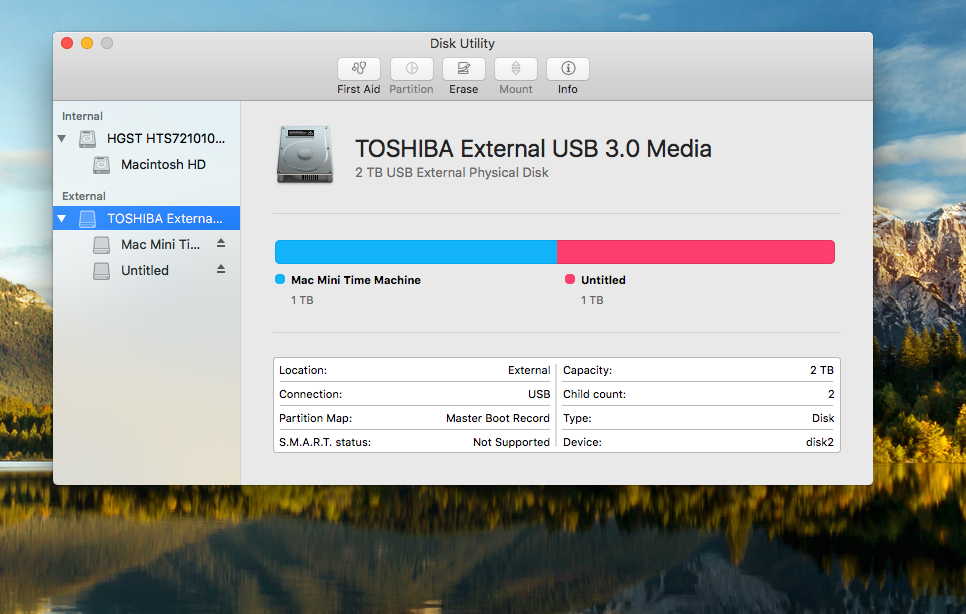 El Capitan Disk Utility - Partition option greyed out