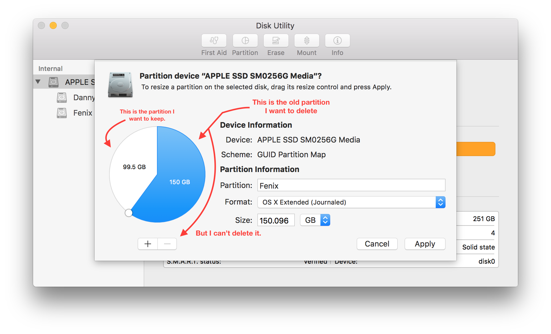 Can't delete a partition in Disk Utility  | MacRumors Forums